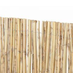 Separación-bambú-natural-media-caña-decoración-jardín-terraza-hogar