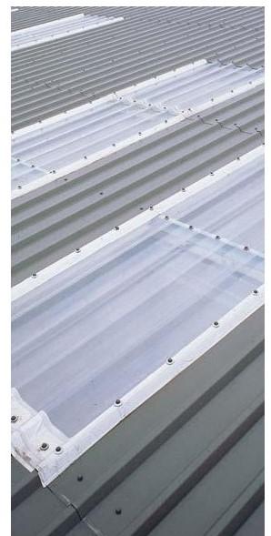 rollo de chapa de poli carbonato de cristal de 30 x 1,25 metros