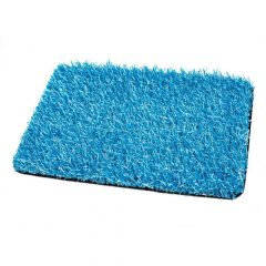 cesped artificial bicolor azul